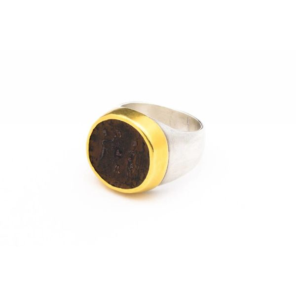 WOMENS SILVER COIN RING