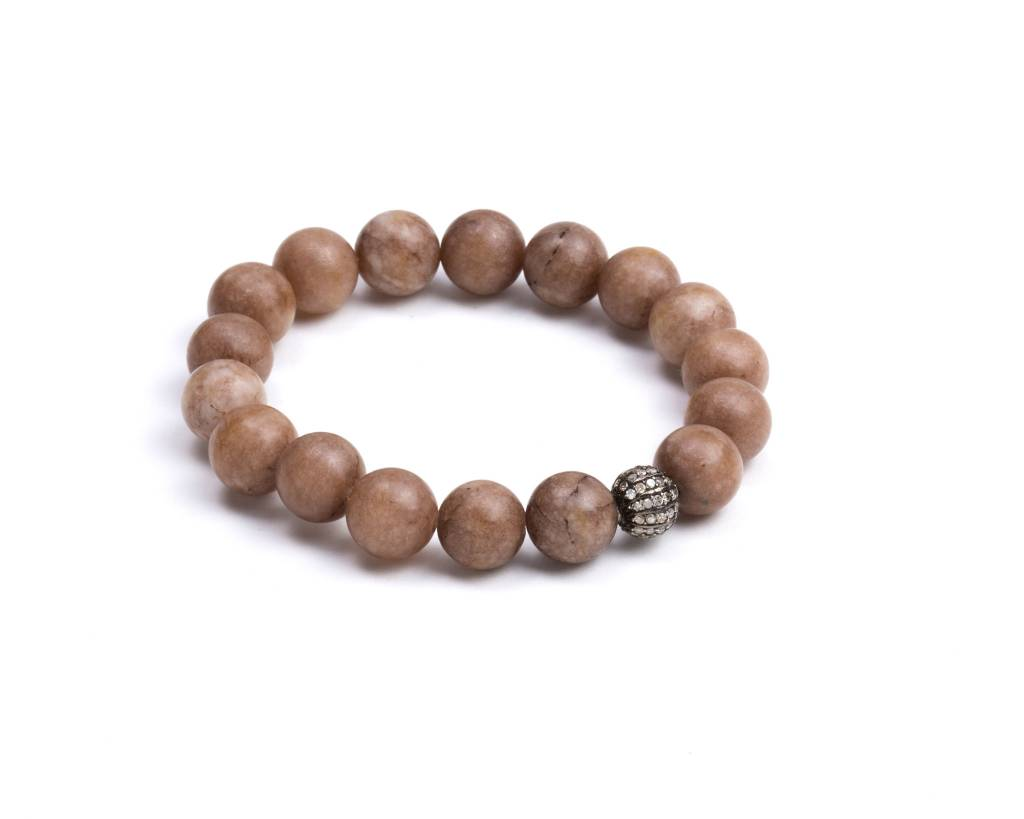 BROWN MOONSTONE JADE BRACELET