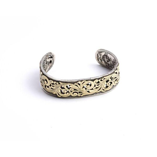 Sterling Silver Bracelet 14k Yellow Gold Overlay