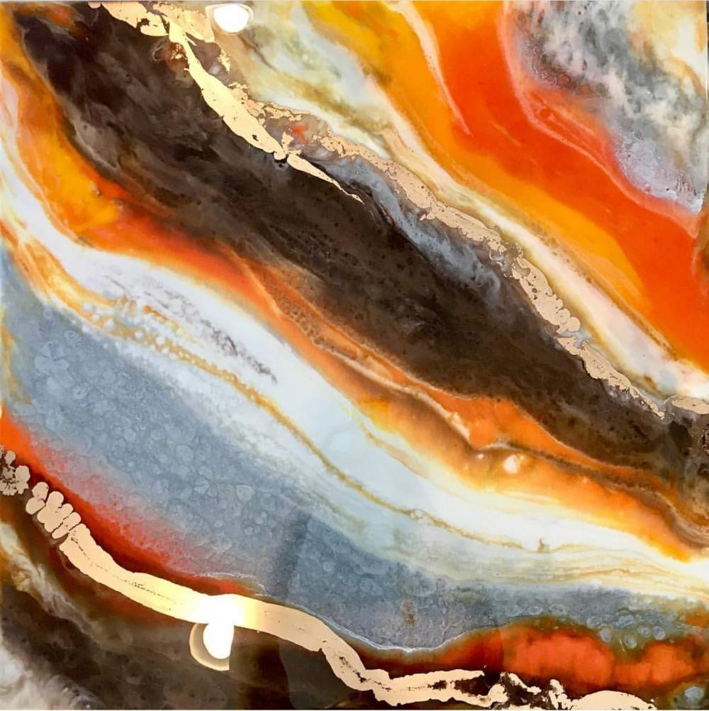 ORANGE ONYX TRIPTYCH
