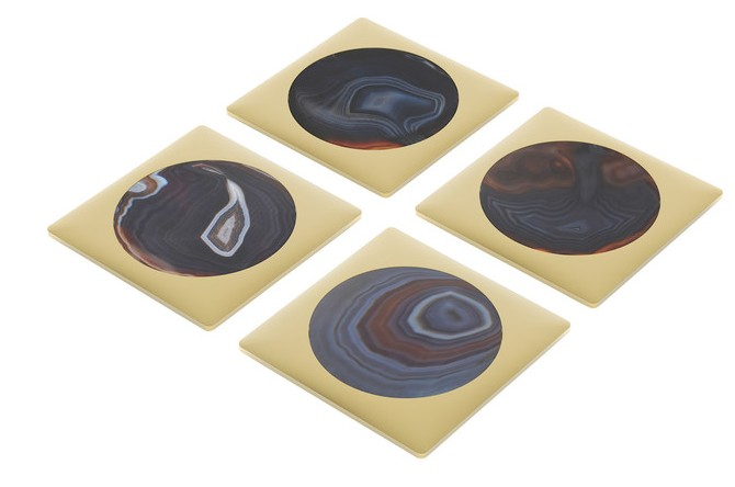Circulo Coasters - Midnight Gold