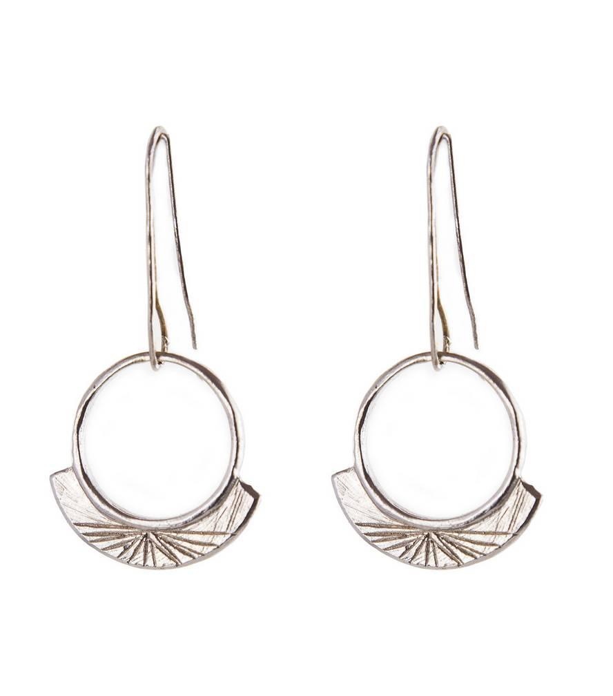 Light Sterling Silver Engraved Earrings