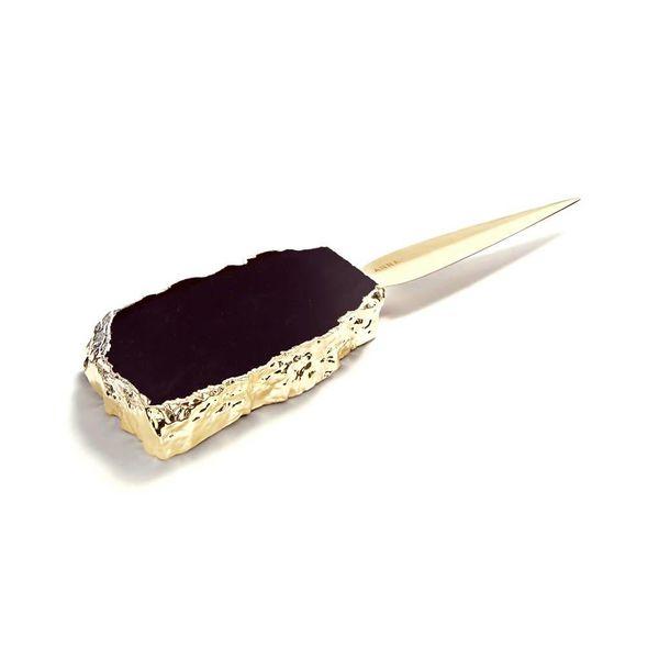 Ampliar Letter Opener - Obsidian + Gold