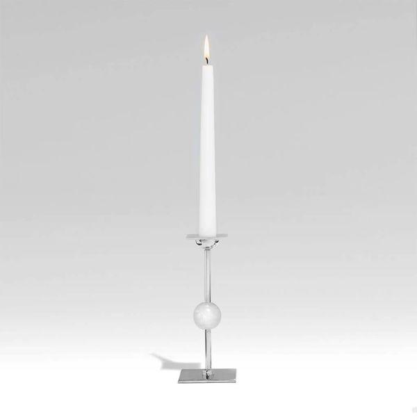 Large Ilumina Candleholder - Nickel + Crystal