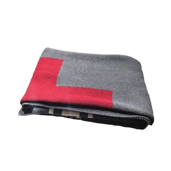 REVERSIBLE SWISS CROSS SPLIT ECO THROW - SMOKE