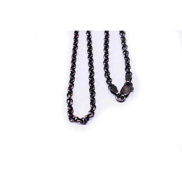 Thin Rhodium Silver Chain