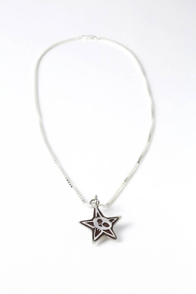 Star with Skull Pendant