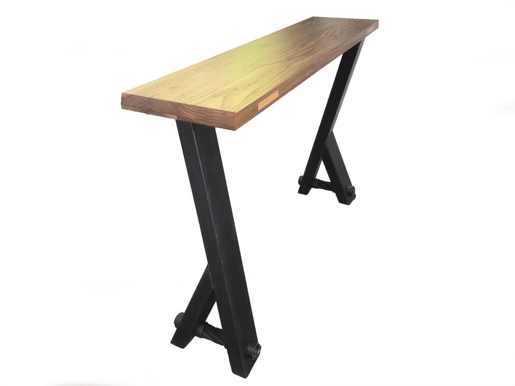 Walnut Console Table with Y Legs