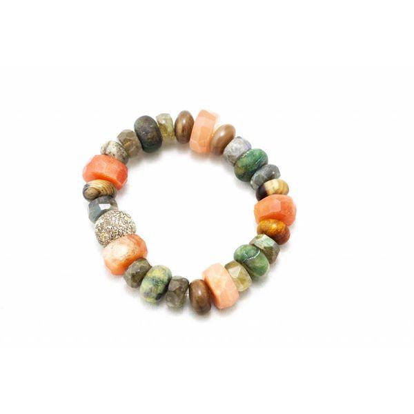 Stegodon + Sunstone + Various Stones Bracelet