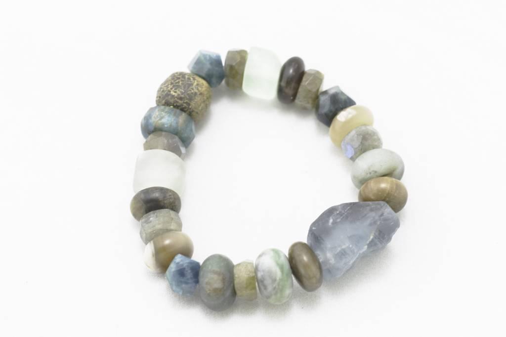 Large Apatite + Various Stones Bracelet