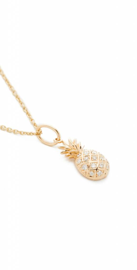 Pave Pineapple Charm Necklace