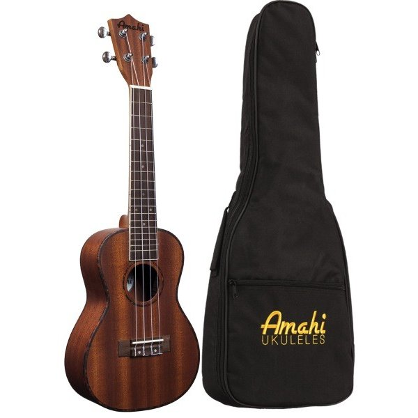 Amahi Amahi Classic Series Tenor Ukulele, Mahogany Top, Back & Sides, includes padded gig bag