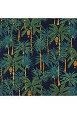 Robert Kaufman Sevenberry, Island Paradise in Navy, Fabric Half-Yards SB-4129D1-4