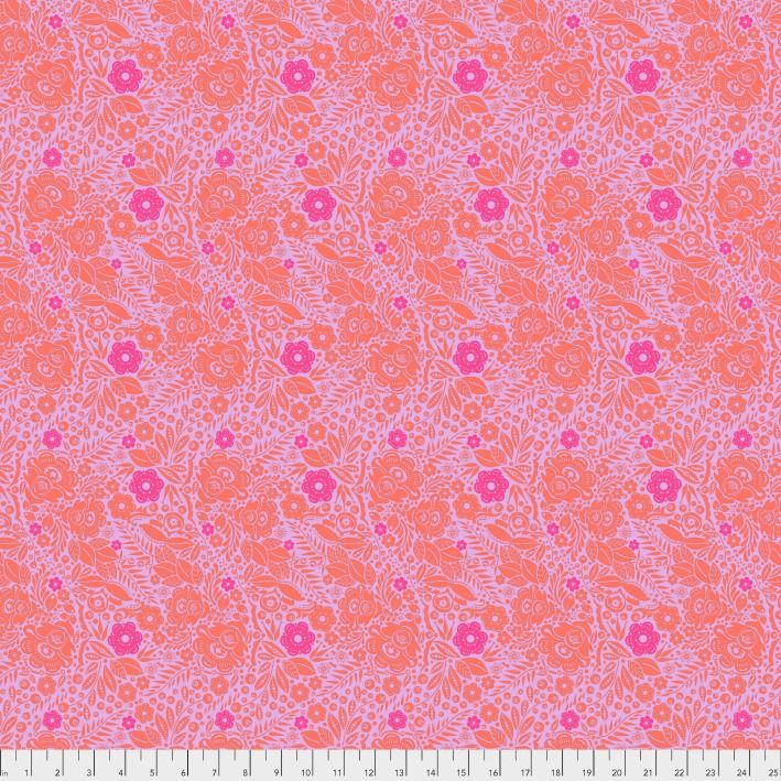 PD's Anna Maria Horner Collection Passionflower, Lace in Marmalade, Dinner Napkin