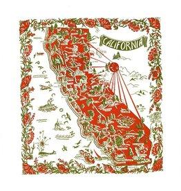 "Red & White Kitchen Co. California Red+Green Flour Sack Towel 22"" x 22"""