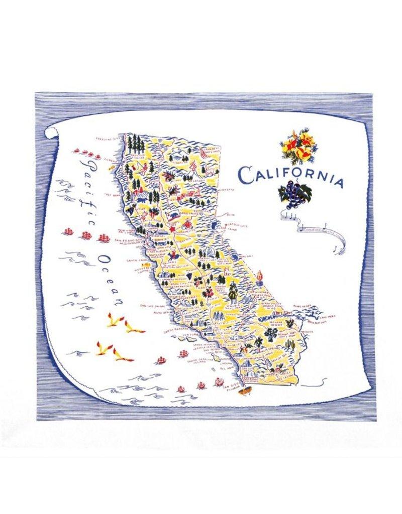 """Red & White Kitchen Co. California Blue Flour Sack Towel 22"""" x 22"""""""