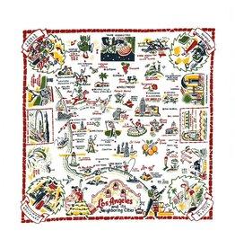 "Red & White Kitchen Co. Los Angeles Flour Sack Towel 22"" x 22"""