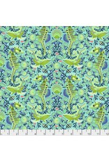 PD's Tula Pink Collection Zuma, Sea Stallion in Aquamarine, Dinner Napkin