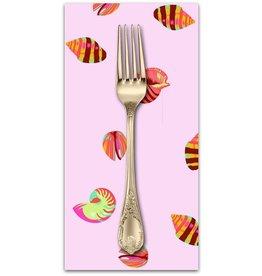 PD's Tula Pink Collection Zuma, Sea Shells in Glowfish, Dinner Napkin