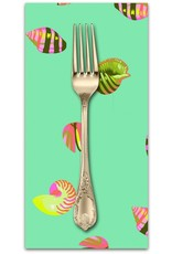 PD's Tula Pink Collection Zuma, Sea Shells in Seaglass, Dinner Napkin