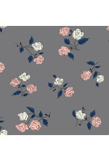 Kim Kight ON SALE-Steno Pool, Roses in Shadow, Fabric Half-Yards K3065-003