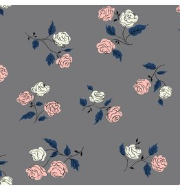 Kim Kight ON SALE-Steno Pool, Roses in Shadow, Fabric Half-Yards K3065-003