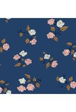 Kim Kight Steno Pool, Roses in Midnight, Fabric Half-Yards K3065-001