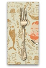 PD's Rae Ritchie Collection Aweigh North, Sailor Toile in Sand, Dinner Napkin