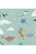 Rae Ritchie Aweigh North, Beneath the Sea in Harbor, Fabric Half-Yards STELLA-SRR1055