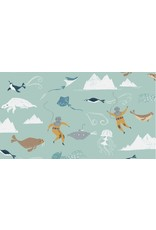 Rae Ritchie Aweigh North, Beneath the Sea in Harbor, Fabric Half-Yards STELLA-SRR1055