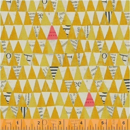 PD's Carrie Bloomston Collection Wonder, Stacked Triangles in Mustard, Dinner Napkin