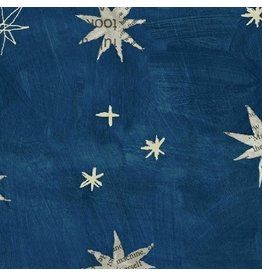 Carrie Bloomston Wonder, Stars in Navy, Fabric Half-Yards 50517