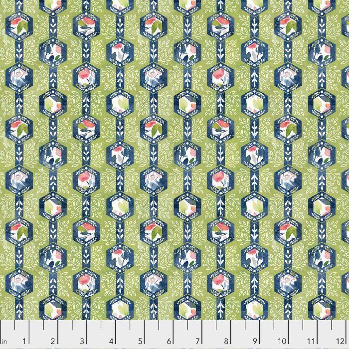 Natalie Malan Georgia Blue, Honeycomb in Navy, Fabric Half-Yards PWNM015
