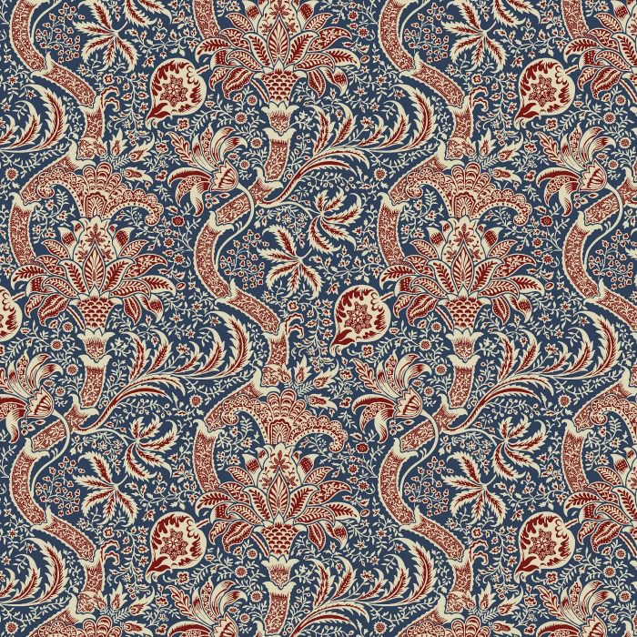 William Morris & Co. ON SALE-Morris & Co., Montagu Indian in Medici, Fabric Half-Yards PWWM017
