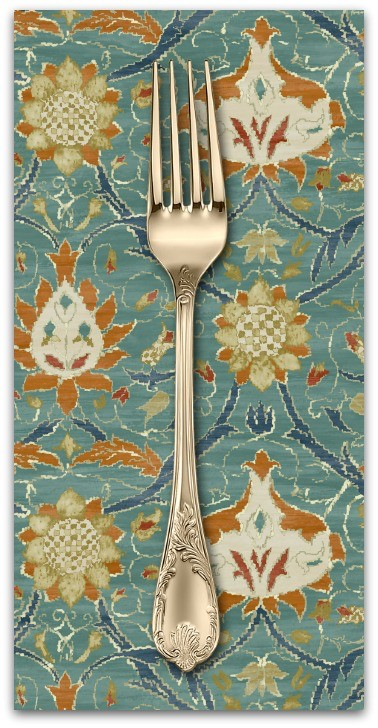 PD's William Morris Collection Morris & Co., Montagu Montreal in Forest, Dinner Napkin