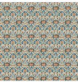 William Morris & Co. Morris & Co., Montagu Little Chintz in Forest, Fabric Half-Yards PWWM016