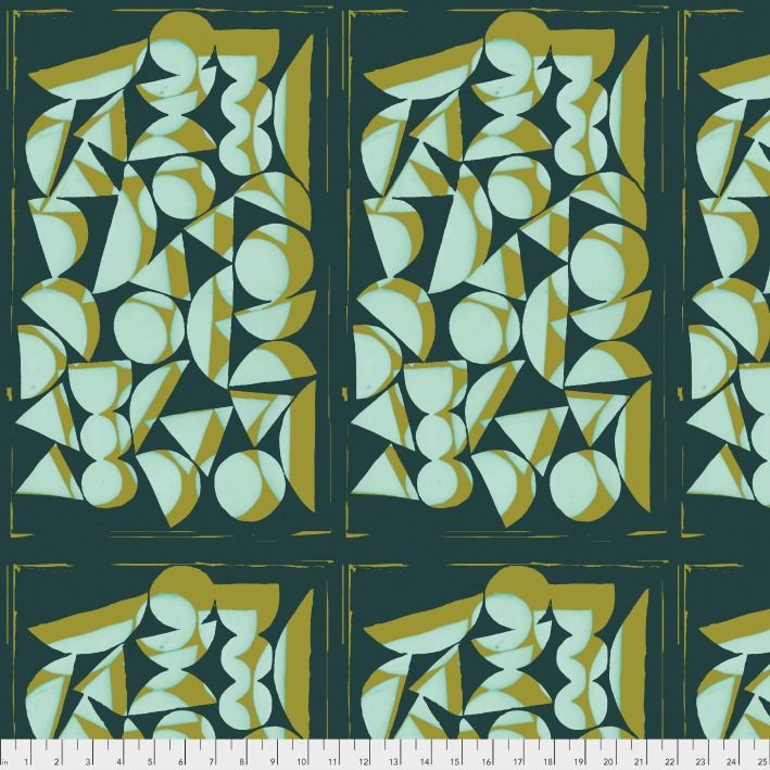 Bookhou ON SALE-Vestige, Shapes in Sea, Fabric Half-Yards PWBH001