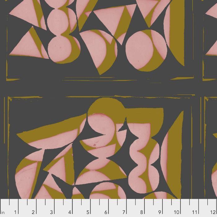 Bookhou Vestige, Shapes in Rose, Fabric Half-Yards PWBH001