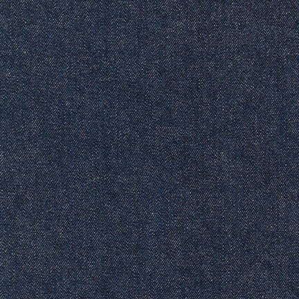 Robert Kaufman House of Denim Indigo Denim 8oz. in Indigo Washed,  Fabric Half-Yards I013-1604