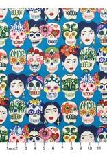 Alexander Henry Fabrics Folklorico, Gotas de Amor in Royal, Fabric Half-Yards 7925F