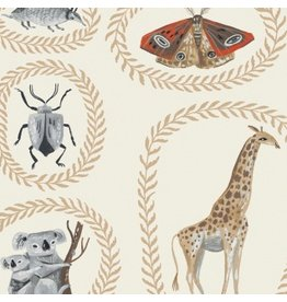 Rae Ritchie ON SALE-Natural History, Menagerie in Gardenia, Fabric full-Yards STELLA-SRR1084