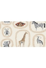 Rae Ritchie Natural History, Menagerie in Gardenia, Fabric Half-Yards STELLA-SRR1084