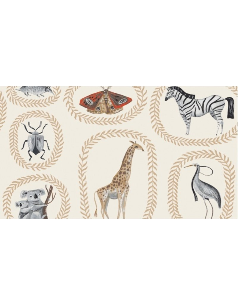 PD's Rae Ritchie Collection Natural History, Menagerie in Gardenia, Dinner Napkin