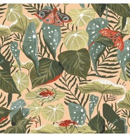 Rae Ritchie Natural History, Moth Bouquet in Multi, Fabric Half-Yards STELLA-SRR1083