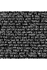 Robert Kaufman Architextures Wideback, Scribble Notes in Black, Fabric Half-Yards AFRX-18144-2