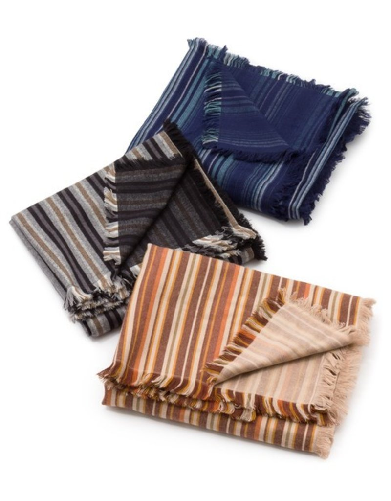 Robert Kaufman Yarn Dyed Cotton Flannel, Tamarack Stripes Flannel in Seaglass, Fabric Half-Yards SRKF-18223-333