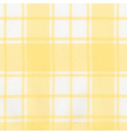 Robert Kaufman Brushed Cotton Flannel, Brooklyn Plaid in Bumble Bee, Fabric Half-Yards