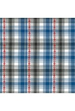 Robert Kaufman Ponderosa Lightweight Yarn Dyed Woven, Plaid in Blue, Fabric Half-Yards