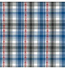 Robert Kaufman Ponderosa Lightweight Yarn Dyed Woven, Plaid in Blue, Fabric Half-Yards