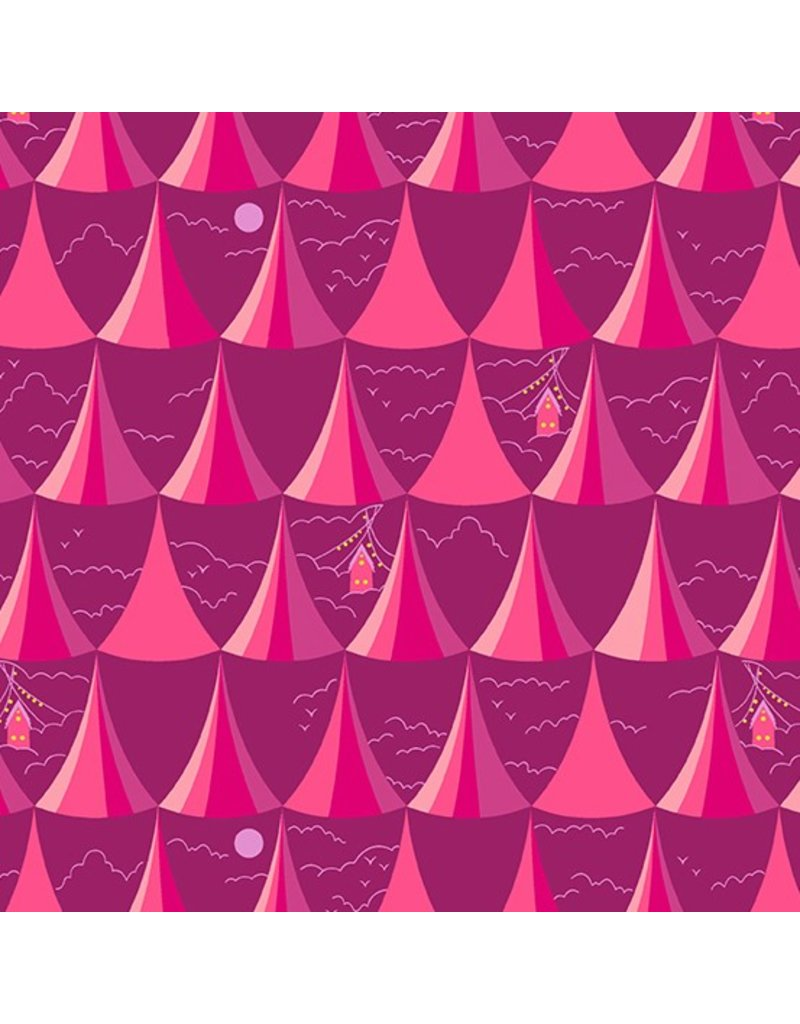 Alison Glass ON SALE-Road Trip, Overlook in Rose, Fabric full-Yards A-8900-E